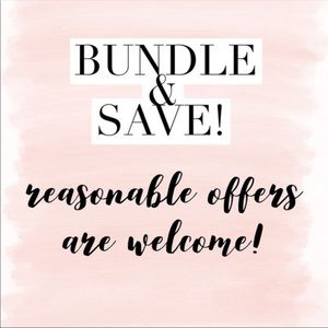 15% off bundles of 3 items!!!
